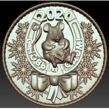 Новогодний медальон