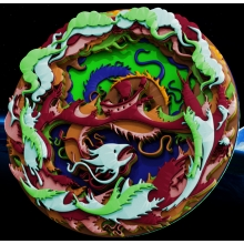 Тарелка дракон